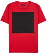 Fendi Red Embossed Cotton T-shirt