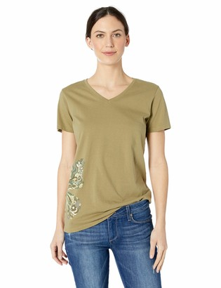 Life is Good Womens Crusher Animal Graphic V-Neck T-Shirt