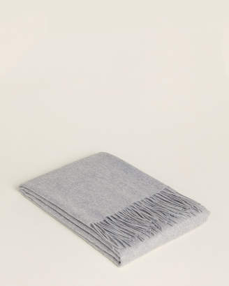 Magaschoni Cashmere Fringe Throw