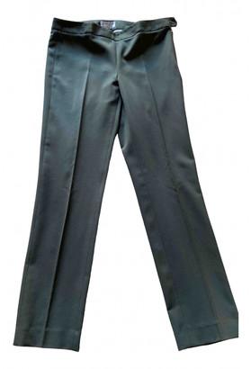 Alberto Biani Green Wool Trousers