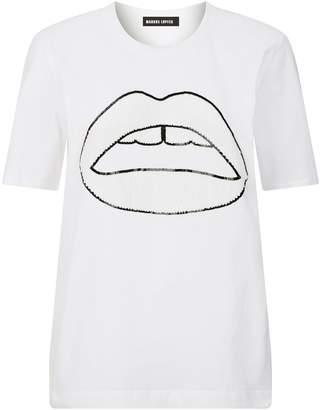 Markus Lupfer Alex Sequin Lip T-Shirt