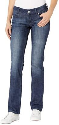 Wrangler Essential Mid-Rise Skinny Jeans (Dark Blue) Women's Jeans