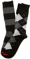 Black Argyle/Black Rugby Sock 2-Pack