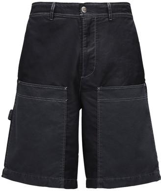 Diesel Cotton & Nylon Twill Shorts W/ Pockets