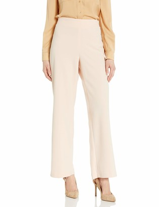 Nine West Women's Plus Size Solid Soft Crepe Flare Bottom Pant