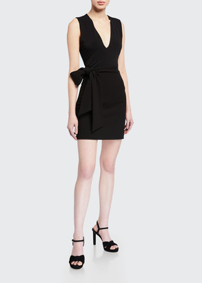 Alice + Olivia Riva Mini Skirt w/ Tie