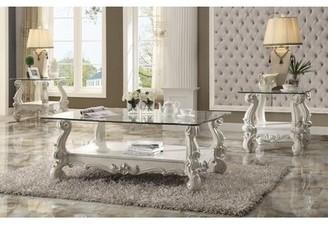 Astoria Grand Welton 3 Piece Coffee Table Set Astoria Grand Color: Bone White