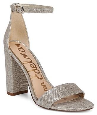 Sam Edelman Yaro Ankle-Strap Metallic Sandals