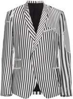 Haider Ackermann Defected stripe print jacket