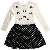 Sweet Heart Rose Sweetheart Rose Girls 2-6x Polka Dot Sweater Knit Dress