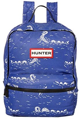 Hunter Original Printed Backpack (Kids) (Cuttle Blue Nessie) Backpack Bags