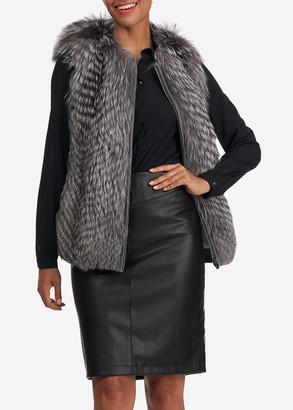 Gorski Fox Fur Wool Back Vest