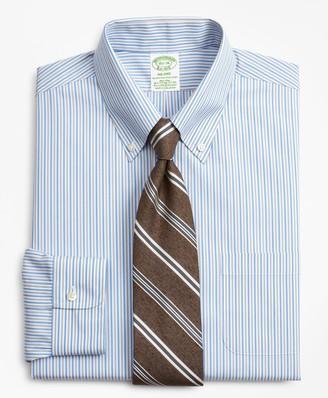 Brooks Brothers Stretch Milano Slim-Fit Dress Shirt, Non-Iron Alternating Stripe