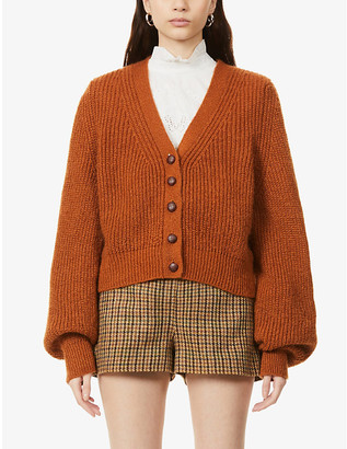 The Kooples Cropped knitted cardigan