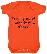 1StopShops When I Grow Up... Chess Baby Bodysuit with Black Print