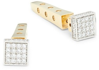 Roberto Coin 18K Two-Tone Gold, Ruby & Diamond Stud Earrings
