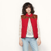 Maje Reversible sleeveless padded jacket