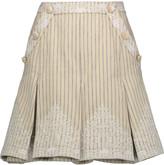 Zimmermann Master Adorn embellished striped twill mini skirt