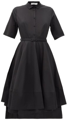 Co Belted Cotton-sateen Shirt Dress - Black