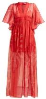 Three Graces London X Zandra Rhodes Gabrielle Silk Maxi Dress - Womens - Red Multi