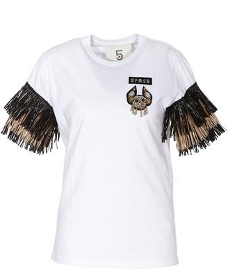 5 PROGRESS Fringed Sleeve T-Shirt