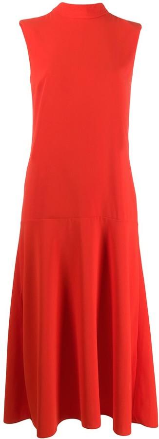 Victoria Victoria Beckham Sleeveless Midi Dress