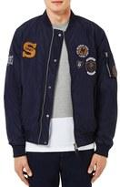 Topman Men's Badge Ma1 Bomber Jacket