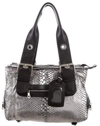 Chloé Metallic Python Shoulder Bag