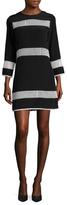 Shoshanna Silk Lace Panel Shift Dress