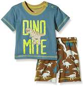 Hatley Baby Boys 0-24m Infant Tee & Drawcord Shorts Wild Dinos Clothing Set