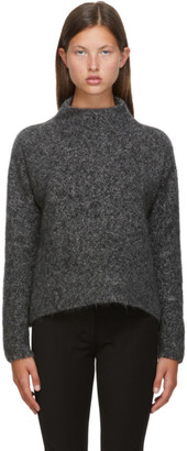 S Max Mara Grey Mohair Ciad Turtleneck