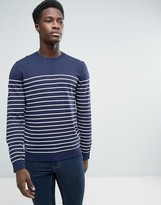 Esprit Crew Neck Breton Stripe Fine Sweater