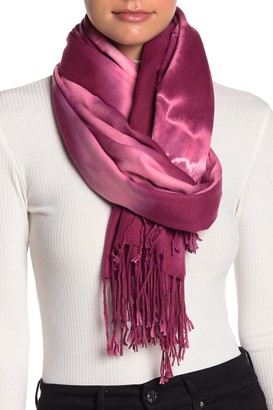 Cara Accessories Super Soft Tie-Dye Print Fringe Wrap Scarf