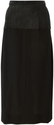 Saint Laurent Pre-Owned panel pencil skirt