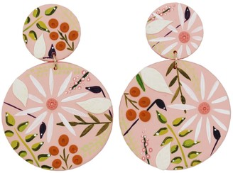 Emily Laura Designs Light Pink Floral Drop Earrings