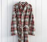 Pottery Barn Denver Plaid Plush Robe
