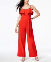 Thalia Sodi Ruffled Belted Jumpsuit, Created for Macy's