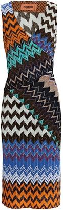 Missoni Knit Chevron Sleeveless Midi Dress