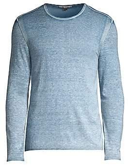 John Varvatos Men's Heathered Silk & Cashmere Sweater