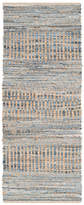 "Safavieh Cape Cod Collection CAP353 Rug, Natural/Blue, 2'3""x8'"