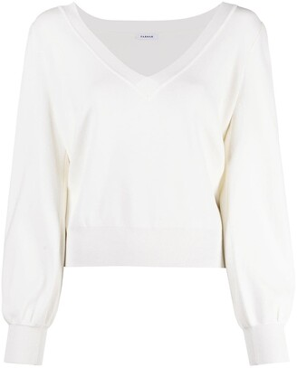 P.A.R.O.S.H. Fine-Knit V-Neck Jumper