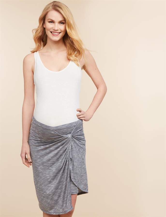 Motherhood Maternity Jessica Simpson Under Belly Knot Front Maternity Skirt