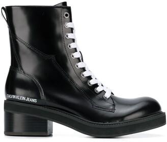 Calvin Klein Jeans block heel cargo boots