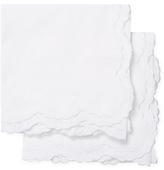 Melange Home Double Scallop Cotton Euro Shams (Set of 2)