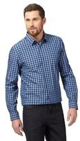 J By Jasper Conran Blue Gingham Print Shirt