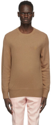 Burberry Tan Cashmere Monogram Motif Sweater