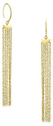 Celara 14K Gold Fringe Drop Earrings