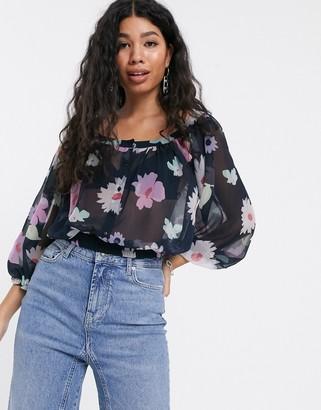 Pepe Jeans Valentine floral print blouse