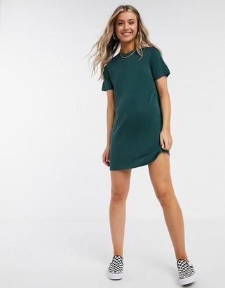 Monki Abbie mini t-shirt dress in dark green