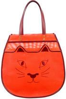 Charlotte Olympia Woven Kitty Shopper Bag